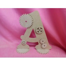 4mm MDF Standing cog letters